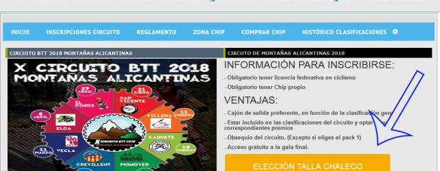 ELECCION CHALECO BTTALICANTE 2018
